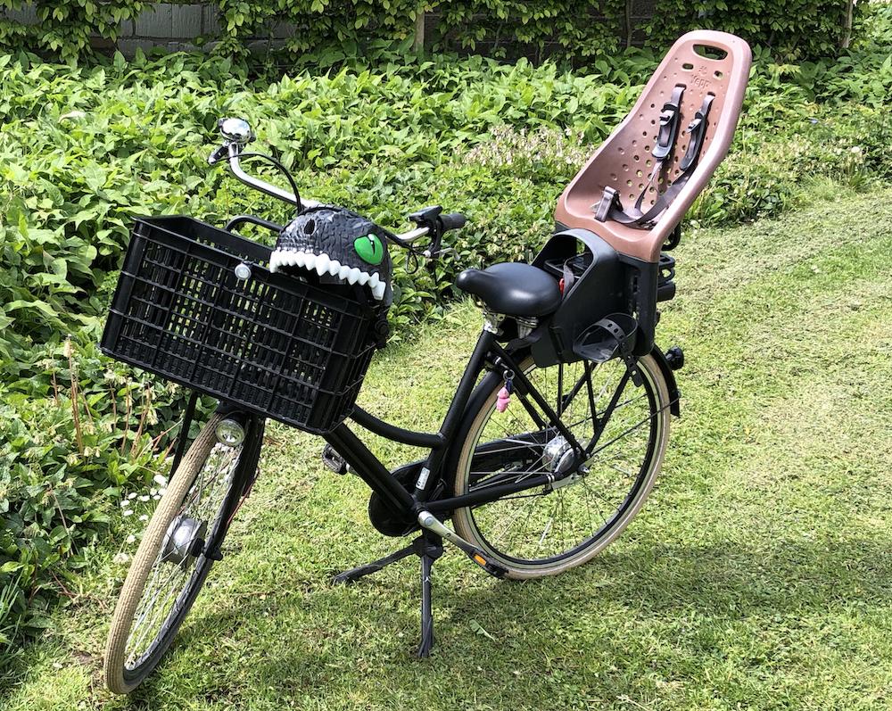 fiets met helm