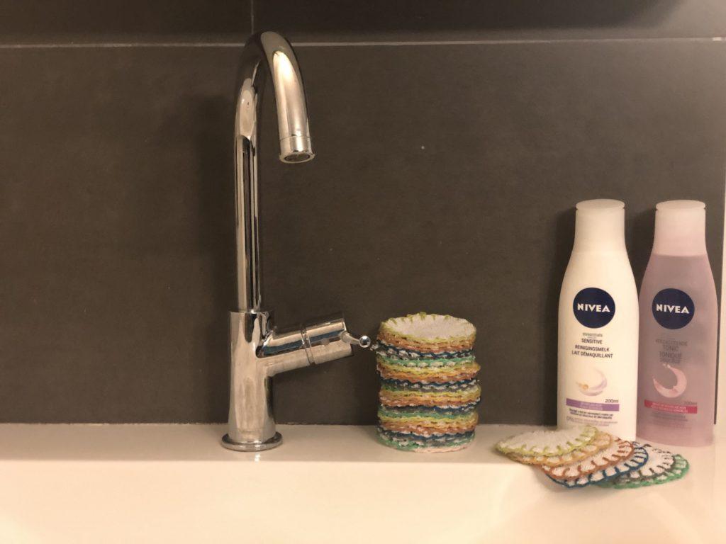 Wattenschijfjes badkamer