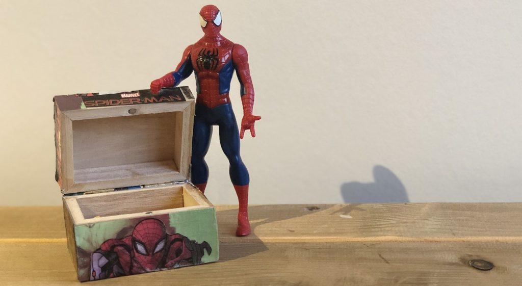 spiderman doosje