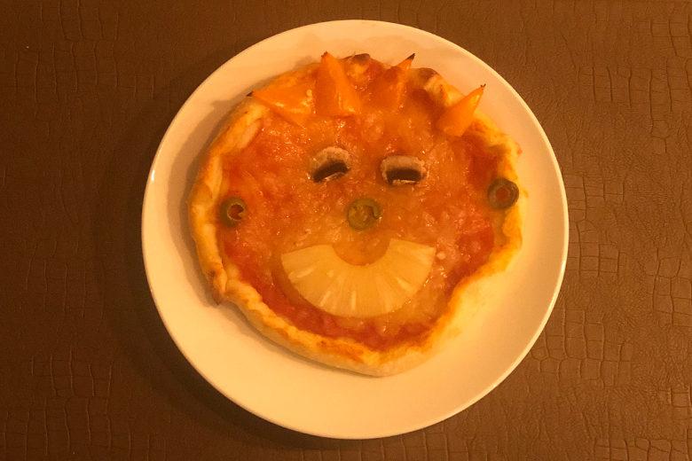 Pizza gezicht