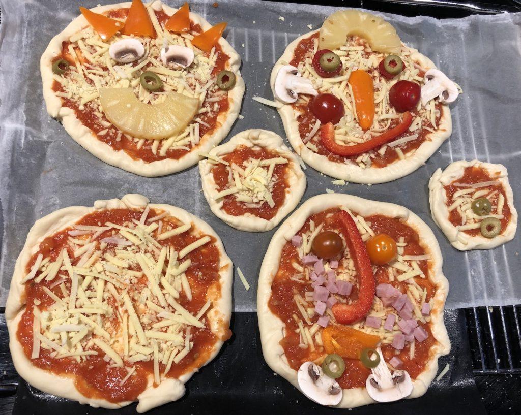 Pizza gezichten