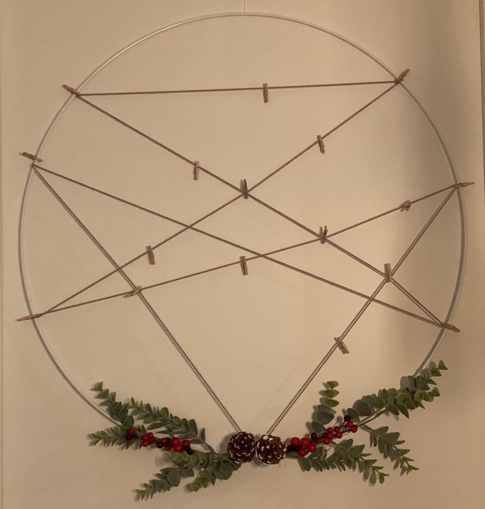 Kerstkaartenkrans