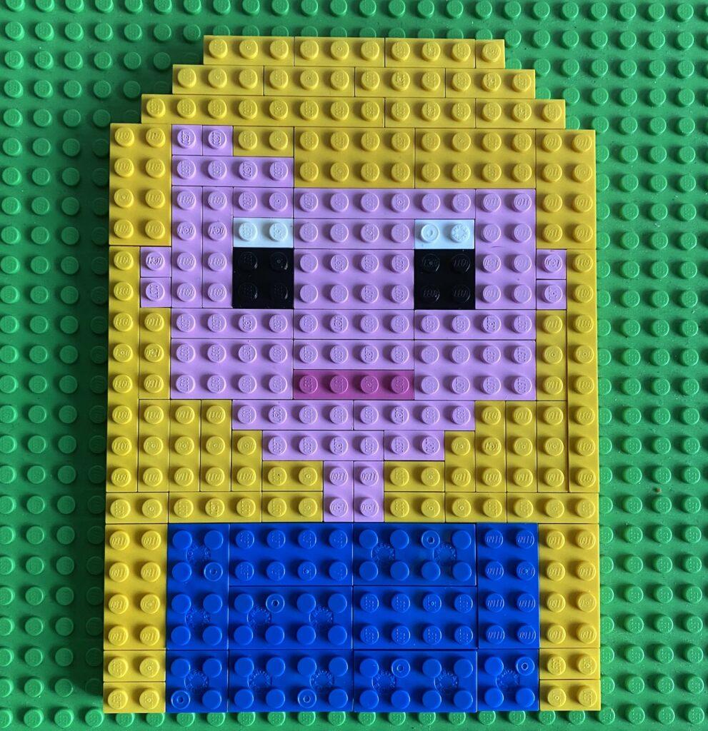 Legomeisjelanghaar