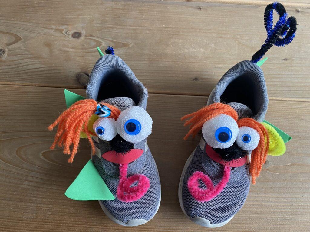Gekke schoenen gezicht