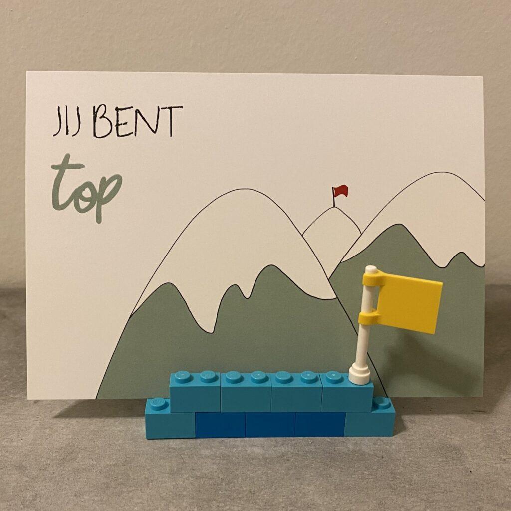 Legohouder top