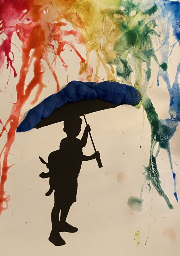 paraplu met klei